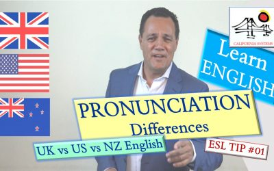 British vs American vs New Zealand English. Pronunciation differences.